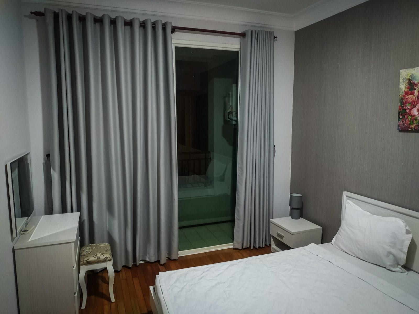 Naše první ubytování v Ho Či Minově městě.