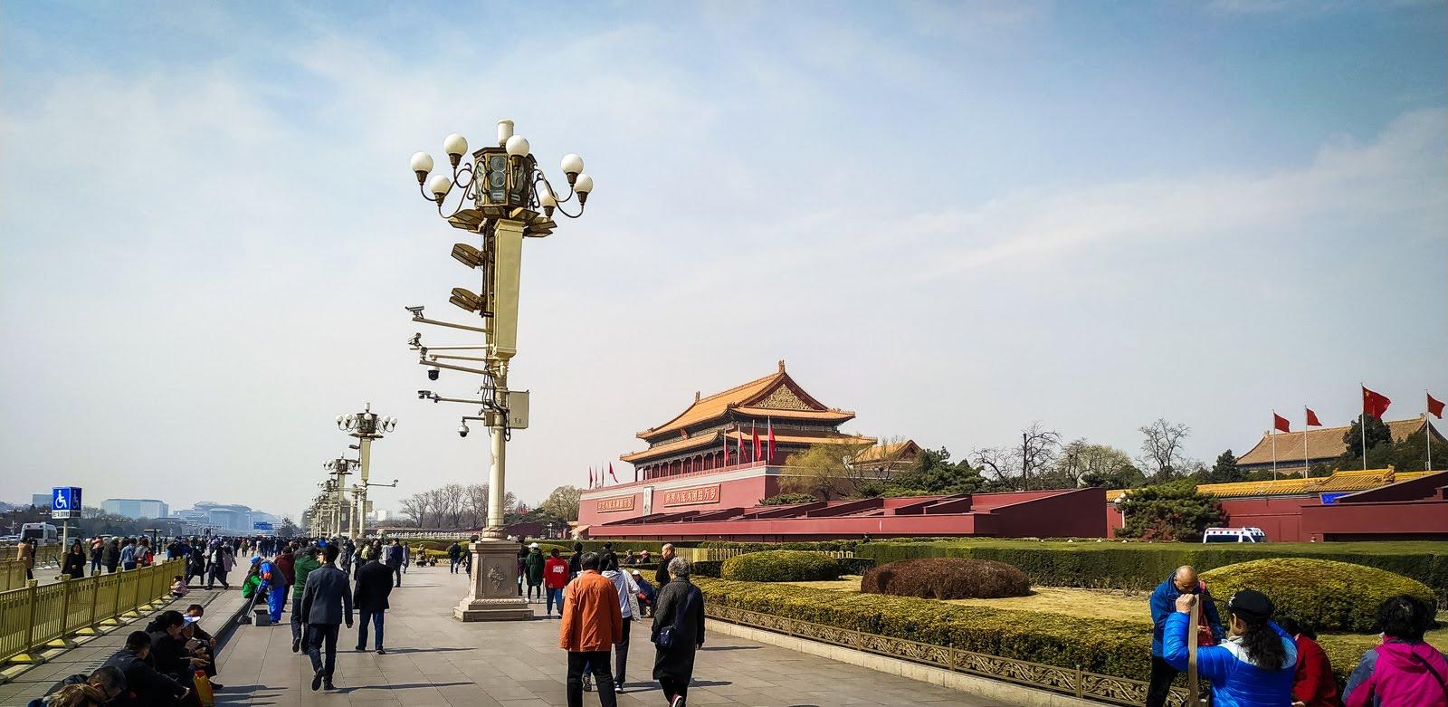 kamery na lampách v Pekingu