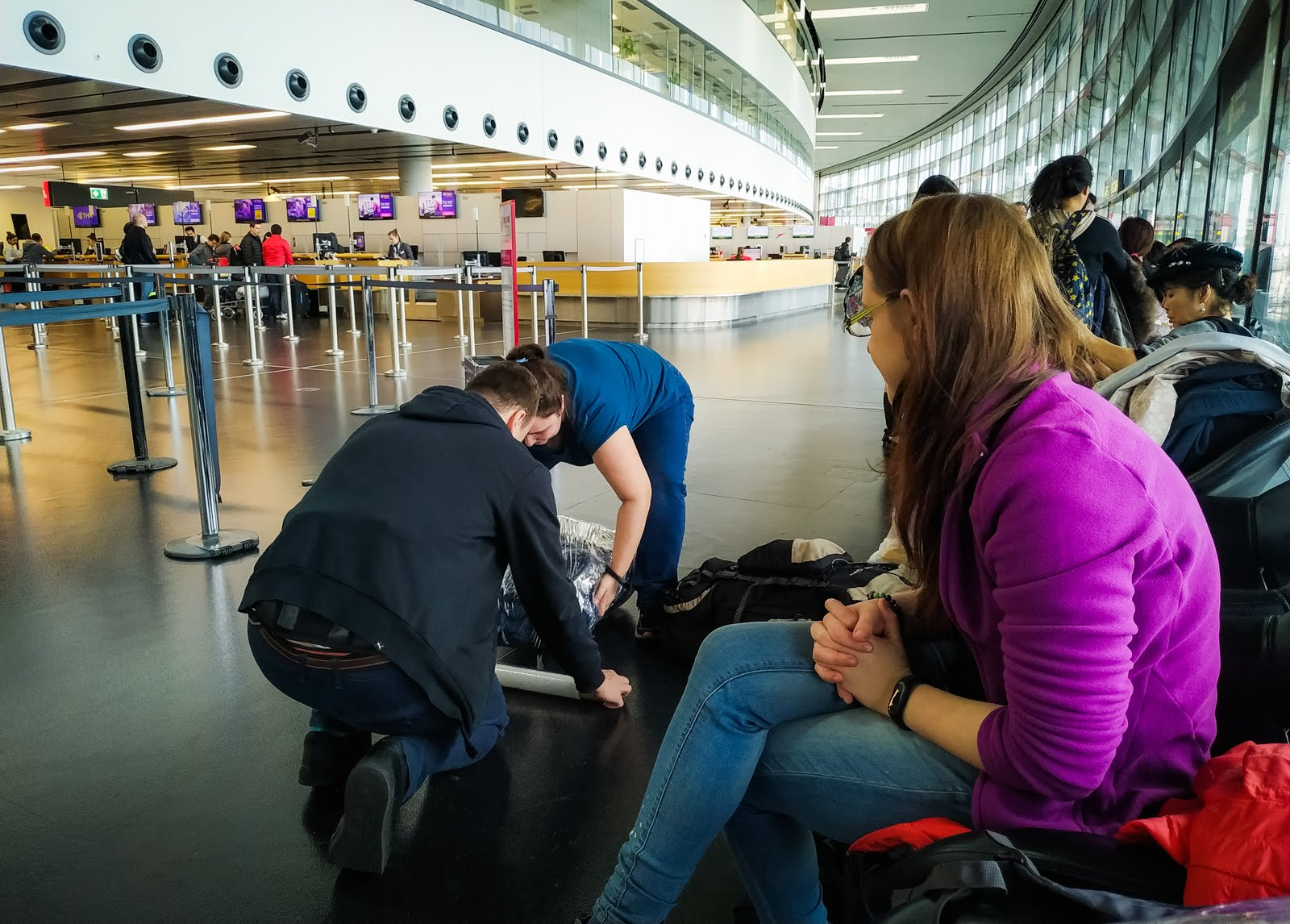 obalujeme krosny na letišti