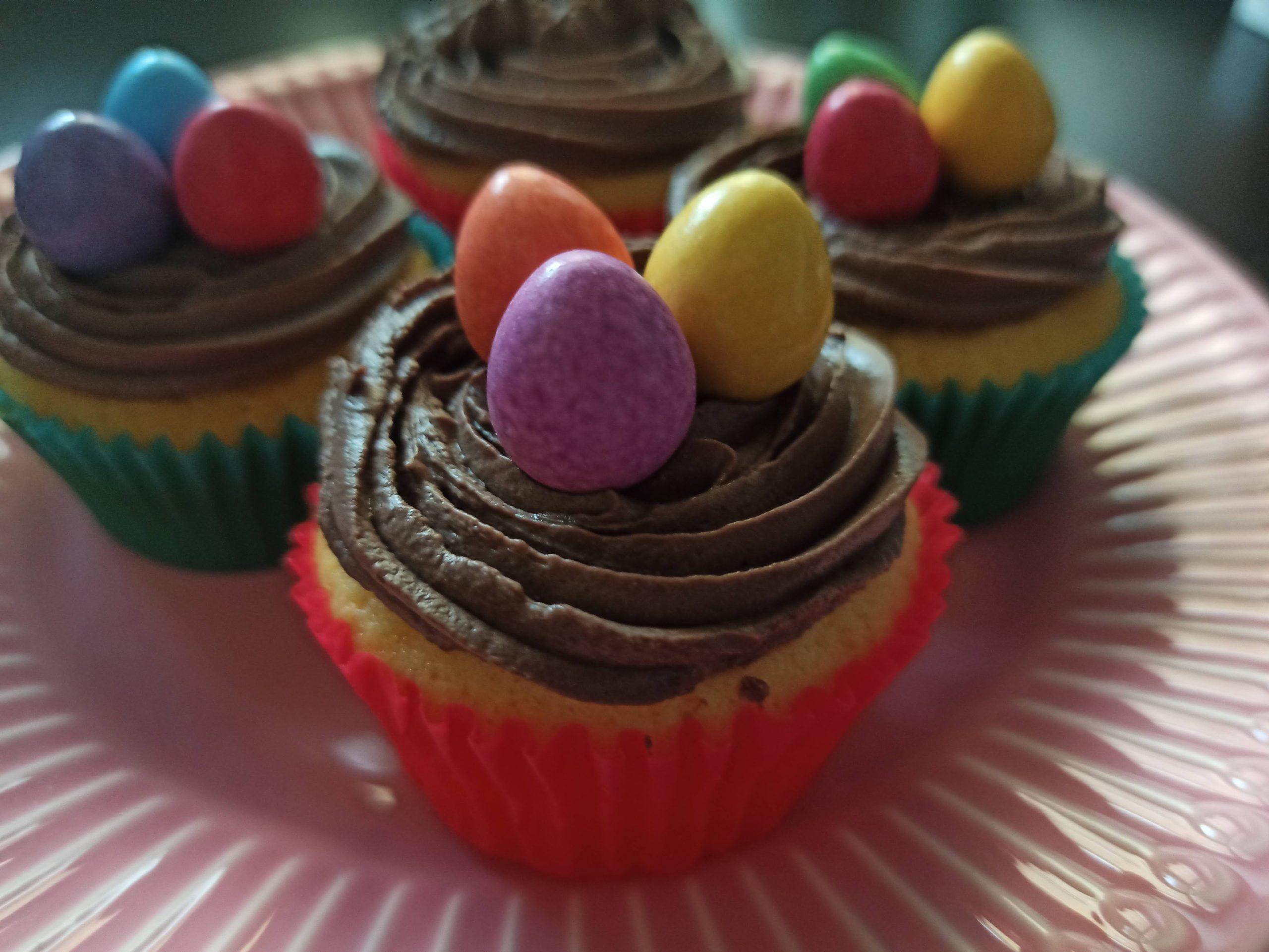 vanilkové muffiny a krém z mascarpone