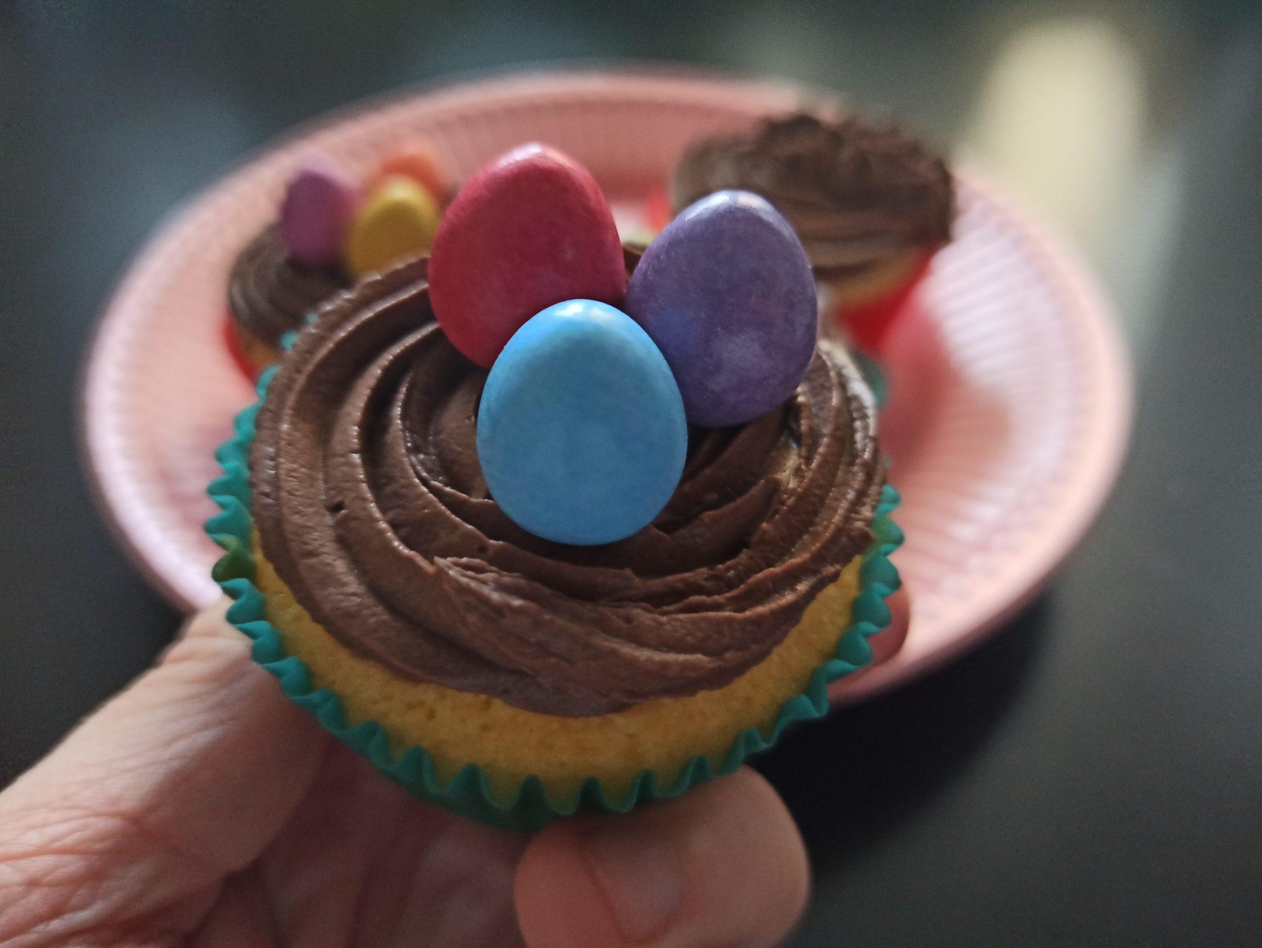 velikonoční muffiny zblízka